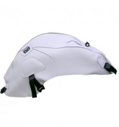 Copriserbatoio Bagster per Yamaha FZ6 Naked 05-09 in similpelle bianco