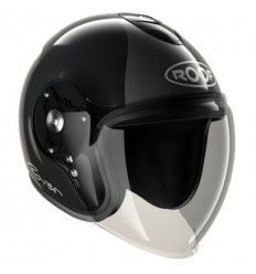 Casco Roof New Rover grafica Legend nero lucido e antracite