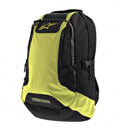 Zaino Alpinestars Charger Back Pack nero e giallo fluo
