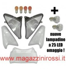 Kit vetri completo ONE Tuning bianchi (ant. + post.) T-Max 500 01-07