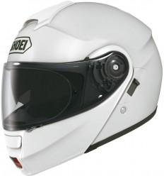 Casco Shoei Neotec apribile con accessori bianco lucido