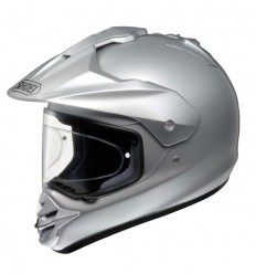 Casco Shoei enduro Hornet DS monocolore argento metal