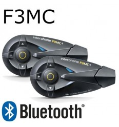 Interfono da casco Bluetooth Cellular Line F3MC doppio