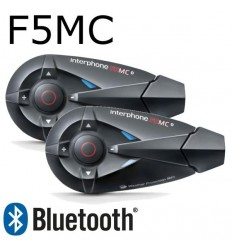 Interfono da casco Bluetooth Cellular Line F5MC doppio