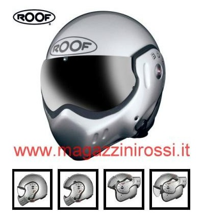 Casco Roof Boxer Classic R05 argento metal