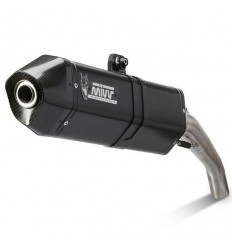 Terminale Mivv Speed Edge Steel Black per BMW F650GS e F800GS dal 2008