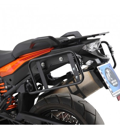 Coppia telai laterali neri Hepco & Becker Lock It per KTM 1190 Adventure/R dal 2013