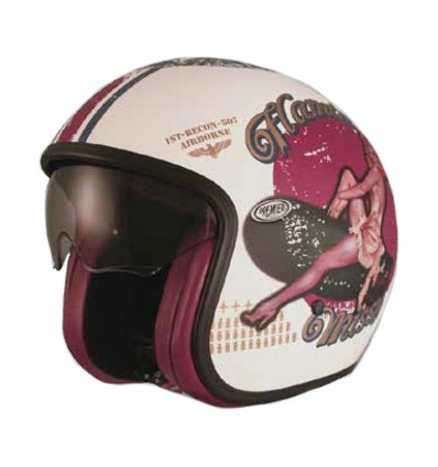 Casco Premier Jet Vintage grafica Pin Up U8 BM