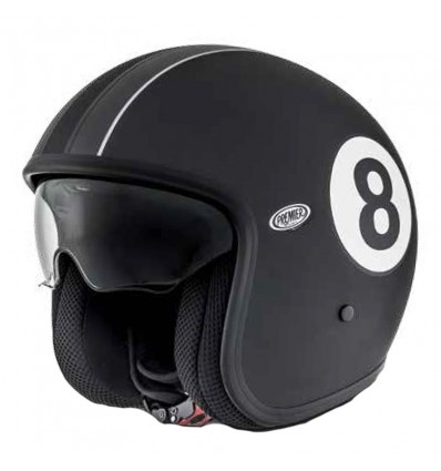 Casco Premier Jet Vintage grafica Eight 9 BM