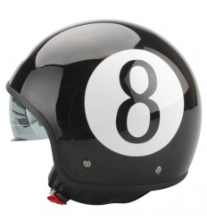 Casco BHR 708 Vintage grafica Ball nera