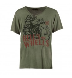 T-Shirt Rude Riders da uomo Forest Green con stampa