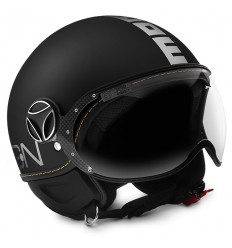 Casco Momo Design Fighter EVO nero frost e bianco