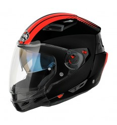 Casco Airoh modulare Executive Stripes nero e arancio