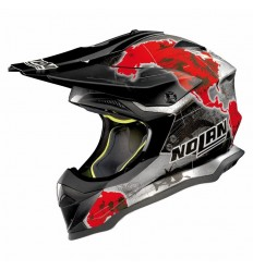 Casco off-road Nolan N53 Practice Replica C. Checa scratched chrome
