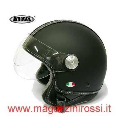 Casco Woodex Racer Top nero opaco
