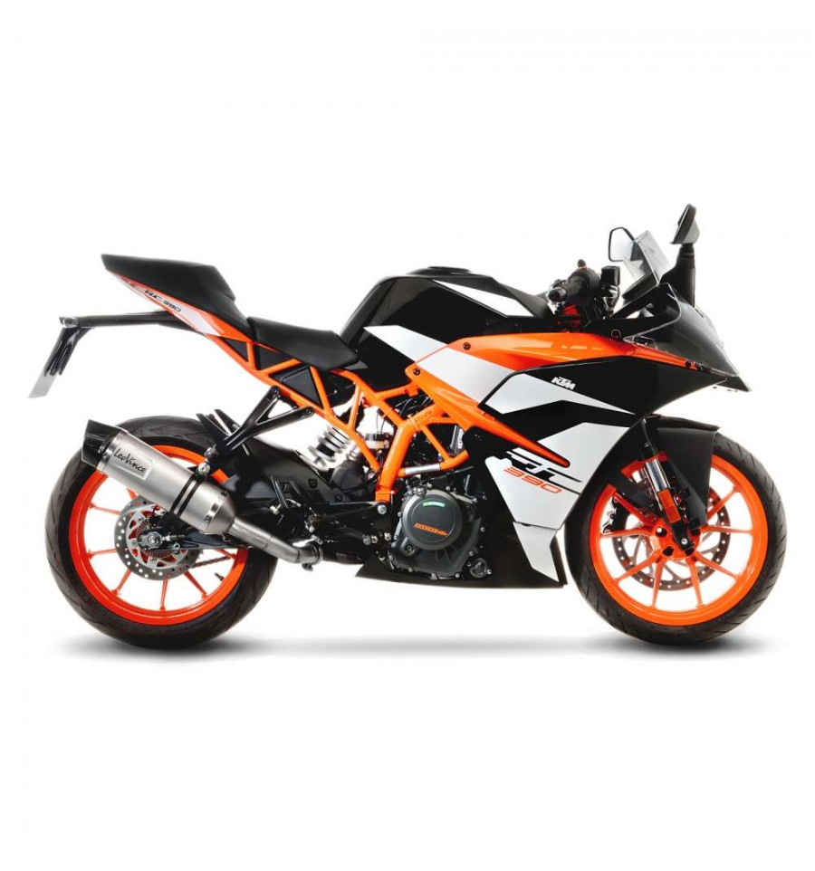 terminale leovince lv one evo per ktm rc 125 390 e duke 125 390 2017 magazzini rossi. Black Bedroom Furniture Sets. Home Design Ideas