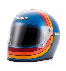 Casco Blauer 80s Limited Edition blu con bande multicolore