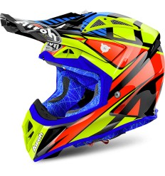 Casco Airoh enduro Aviator 2.2 grafica Double Black Gloss
