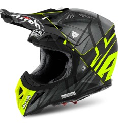Casco Airoh enduro Aviator 2.2 grafica Styling Yellow Matt