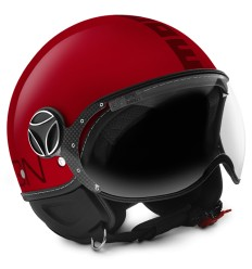 Casco Momo Design Fighter Classic rosso bordeaux lucido