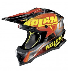 Casco off-road Nolan N53 Sidewinder scratched chrome