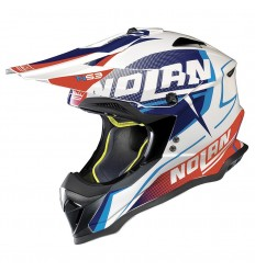Casco off-road Nolan N53 Sidewinder metal white