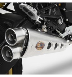Terminale Slip On Zard Racing in acciaio per Ducati Scrambler 800 15-17