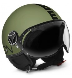 Casco Momo Design Fighter Classic verde militare opaco e nero