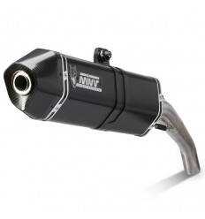 Terminale Mivv Speed Edge Steel Black per Moto Guzzi V85 TT