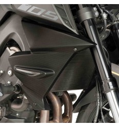 Coppia pannelli laterali radiatore Puig per Yamaha MT-09/SP dal 2017, carbon look