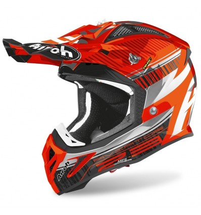Casco Airoh enduro Aviator 2.3 AMS2 Novak orange chrome