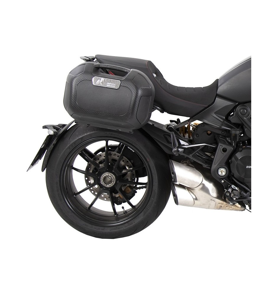 Color : all Black JINBINB in Forma for la Ducati Diavel 1260 2019 Supporto di Alluminio di CNC del Motociclo Pedana Pad Side Stand Ingrandire Cavalletto Motor Parts Accessori